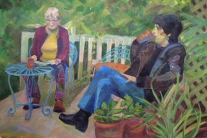 Jan & Liz in the garden